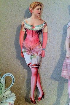 Shabby chic lilian russel paperdoll