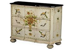 Gilby Cabinet, Ivory/Multi