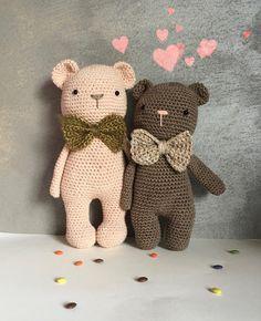 Crochet TEDDY 100% Cotton, Amigurumi teddy, Crochet cadeau anniversaire, cadeau naissance, ourson teddy, cadeau naissance crochet ourson