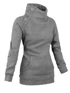 Material: Cotton Clothing Length: Regular Sleeve Length: Full Style: Fashion Pattern Style: Solid Weight: Package Contents: 1 x Sweatshirt Mode Chic, Mode Style, Style Me, Hoodie Sweatshirts, Sport Outfit, Sport Wear, What To Wear, Ideias Fashion, Winter Fashion