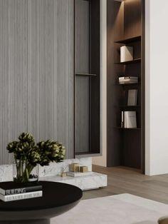 Minimalist Interior, Minimalist Design, Tv Wall Design, House Design, Tv Wall Cabinets, Interior Architecture, Interior Design, Fireplace Design, Cabinet Design