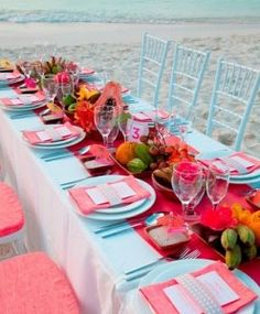 bright colors - seaside tablescape