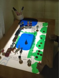 Light box + Small world + Mark making | play based inquiry