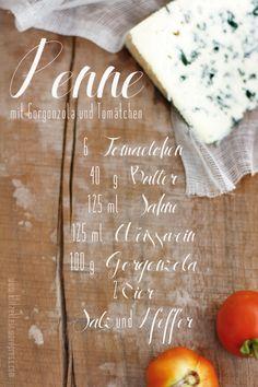 pasta with gorgonzola & tomatoes