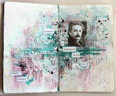 Today I want to share some art journal pages.   Always wanted to start with my own journal and finally I had some time to play!  My first p...