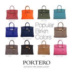 The most popular Birkin colors
