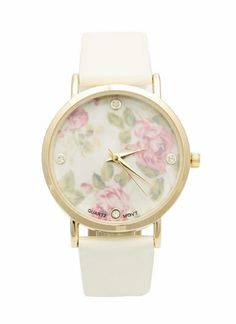 Floral Rhinestone Watch