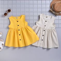 The baby girl breathable sleeveless cardigan dress is so cute and it is a good choice of fashion and you will love it. Kids Dress Wear, Kids Outfits Girls, Toddler Girl Dresses, Toddler Outfits, Baby Outfits, Kids Girls, Baby Kids, Dress Girl, Kids Wear