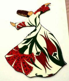 Stencil Painting, Painting & Drawing, Whirling Dervish, Glue Art, Turkish Art, Turkish Style, Book Of Kells, Islamic Art, Islamic Tiles
