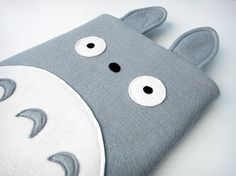 Felt iPad Sleeve / Case - Totoro. $35.00, via Etsy.
