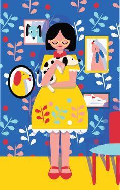 """Kiki Ljung e suas ilustrações """"bold"""" coloridas"""