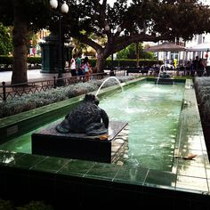 Plaza Las Ranas Canario, Outdoor Seating, Plaza, Four Square, Mansions, House Styles, Las Palmas, Frogs, Doors