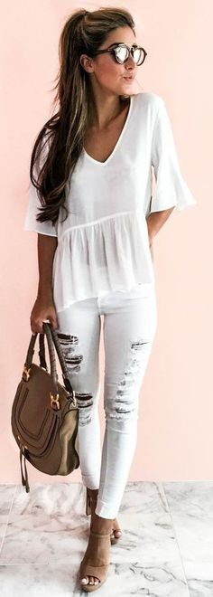 All White + Pop Of Camel                                                                             Source