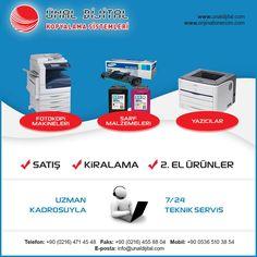 Fotokopi Makinaları, Yedek Parça, Yazıcılar Orjinal Xerox Ürünleri www.unaltonermerkezi.com - www.unaldijital.com #xerox #kiralikfotokopi #kiralikyazici