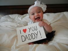 """I love you Daddy!"" What a wonderful Father's Day photo. … ""I love you Daddy!"" What a wonderful Father's Day photo. Fathers Day Pictures, Fathers Day Photo, First Fathers Day Gifts, Daddy Gifts, Fathers Day Crafts, Valentine Day Crafts, Baby Pictures, First Valentines Day Baby, Fathers Day Ideas For Husband"