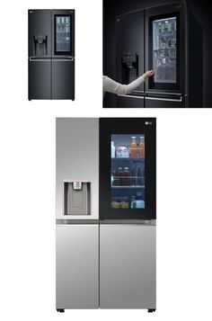 LG unveiled its InstaView refrigerators featuring a viewing window years back and since then this appliance has been improved with many different features. This year during the first virtual CES event, LG is going to unveil all-new InstaView Door-in-Door refrigerators updated with new features and technologies to maintain hygiene. Smart Home Appliances, Electronic Appliances, Small Appliances, Door In Door Refrigerator, Best Espresso Machine, Refrigerators, Trendy Home, Glass Panels, Product Launch