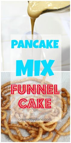 Pancake mix is the BIG secret to making funnel cake at home. It fries up and tastes just like the funnel cake you get at the boardwalk and fairs. Funnel Cake Recipe Using Pancake Mix, Gluten Free Funnel Cake Recipe, Funnel Cake Batter, Funnel Cake Fries, Funnel Cake Recipe Easy, Homemade Funnel Cake, Funnel Cakes, Pancake Cake, Pancake Mix Uses