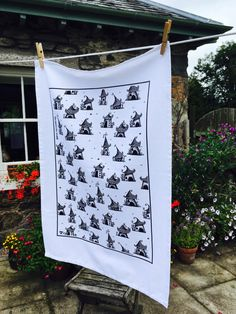 A personal favourite from my Etsy shop https://www.etsy.com/uk/listing/476651123/twirl-town-tea-towel