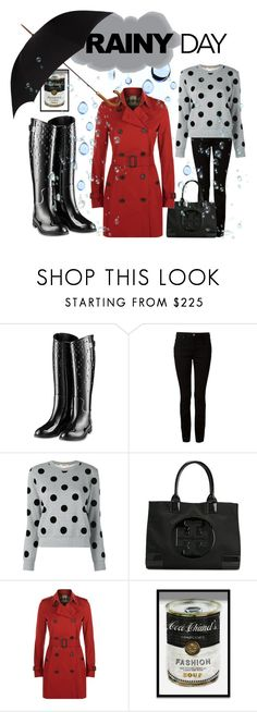 """""""I ❤️ rainy days"""" by ellenfischerbeauty ❤ liked on Polyvore featuring Alexander Wang, Comme des Garçons, Tory Burch, Burberry, Oliver Gal Artist Co. and Harrods"""