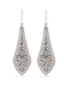 Carolee  Holiday Cocktails Elongated Drop Pierced Earrings