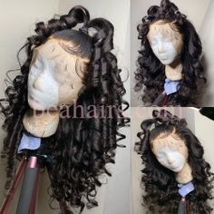 Who need this wand waves ? Wand Hairstyles, Cute Hairstyles, Lace Front Wigs, Lace Wigs, Aesthetic Hair, Black Girls Hairstyles, Textured Hair, Hair Wand, Natural Hair Styles