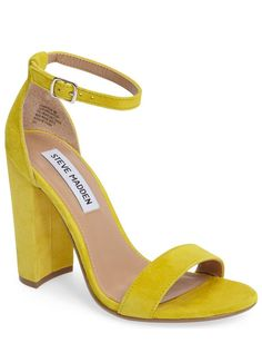 Yellow block heels - click through for more of my yellow favorites for spring!
