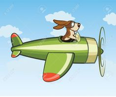 Dog Flying Plane Royalty Free Cliparts, Vectors, And Stock ...