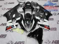 GSXR1000 Black & White ABS Fairing Set that is going on our customers Gixxer
