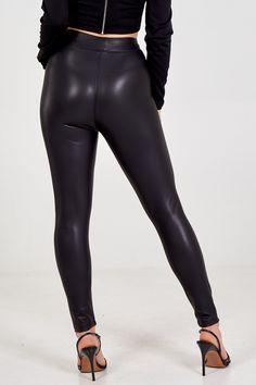 Shiny Leggings, Leather Leggings, Leggings Are Not Pants, Look Legging, Ski Pants, Emma Stone, Long A Line, Cruelty Free, Vegan Leather