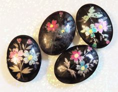 Russian Hand Painted Cabochon for Jewelry Making by DsStash
