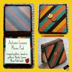 Autumn Leaves Memo Pad (original pattern based on pattern, Plastic Canvas Memo Pad Covers -- Annie's Attic. . . http://www.ebay.com/itm/230973426705)