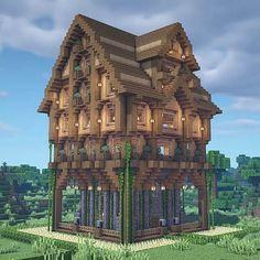 Minecraft City, Minecraft Wooden House, Minecraft Houses Survival, Minecraft Cottage, Cute Minecraft Houses, Minecraft Pictures, Minecraft House Designs, Minecraft Construction, Amazing Minecraft
