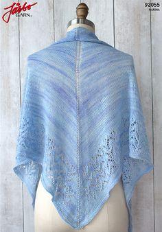 Julian shawl by Fairmount Fibers in Manos lovely Marina.