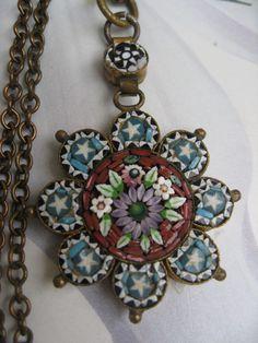 Antique Micro Mosaic Necklace