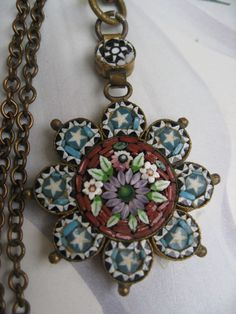 Antique Micro Mosaic Necklace