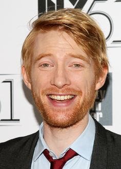 Domhnall Gleeson. He is in Harry Potter and About TIme! He is officially my hero.