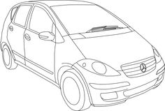 Mercedes Benz Class A Coloring Page - Mercedes car coloring pages