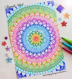 ✨ NEW OBSESSION: Felt tip markers 😂 Just wanted to remind you that you are wonderful, and amazing, and individual and beautiful. Mandala Doodle, Mandala Art, Mandalas Drawing, Dibujos Zentangle Art, Zentangle Drawings, Doodle Drawings, Doodle Art, Zentangles, Marker Kunst