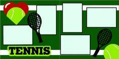 Tennis scrapbook pagekit $8.00