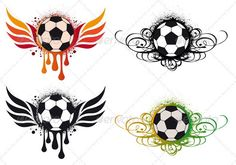 Buy Soccer Balls by amourfou on GraphicRiver. Soccer balls with fire wing and ornament, vector AI EPS 8 and high resolution JPG pixel included. Body Art Tattoos, Small Tattoos, Soccer Tattoos, Free Basketball, Photoshop Lessons, Making The Team, Soccer Pictures, Game Background, Football