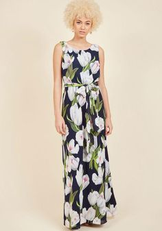 AdoreWe - ModCloth You're Flowing Places Maxi Dress in Tulips in L - AdoreWe