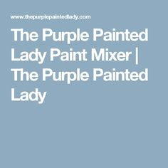 The Purple Painted Lady Paint Mixer | The Purple Painted Lady
