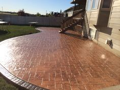 Patio Finishes For Existing Concrete Decks — Collaborate Decors : Stamped Concrete Patio Designs That Enhance The Quality Of Your Environment Concrete Patio Designs, Concrete Projects, Outdoor Projects, Patio Images, Concrete Driveways, Concrete Deck, Stamped Concrete Patios, Acid Concrete, Kitchen Lighting Design