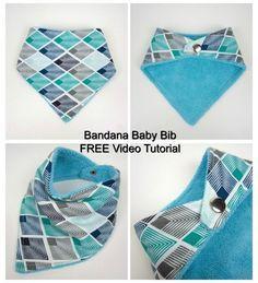 Baby Bandana Bib Sewing Pattern With