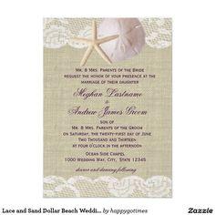 Lace and Sand Dollar Beach Wedding