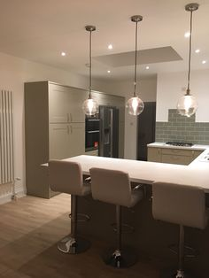 Country Open Plan Kitchens Drop Lights Kitchen Lighting Lightning Sage Future