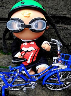 Luigi is biking