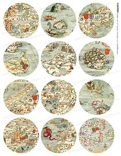 Ancient Nordic Map-- sea monsters