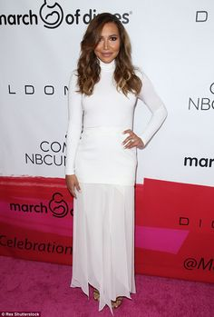 Mama's first red carpet! Naya Rivera walked her first red carpet in Beverly Hills Friday s...