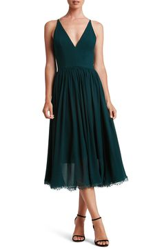 Forest green midi dress #dresses  - #ad